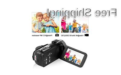 Camcorder Video Camera 48MP WiFi YouTube Night Vision