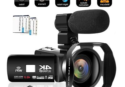 camcorder video camera 4k 48mp wifi youtube