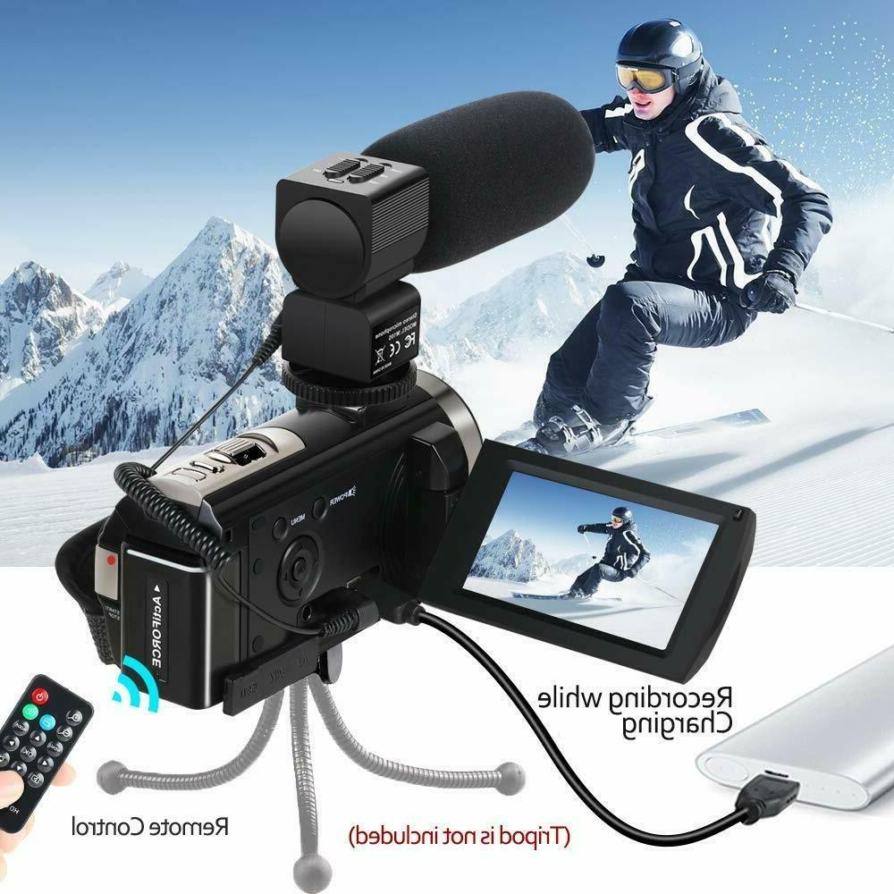 Camcorder YouTube Camera 1080P 24MP 16...