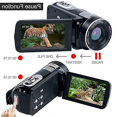 Camcorder HD Vlogging 18X Zoom Night with