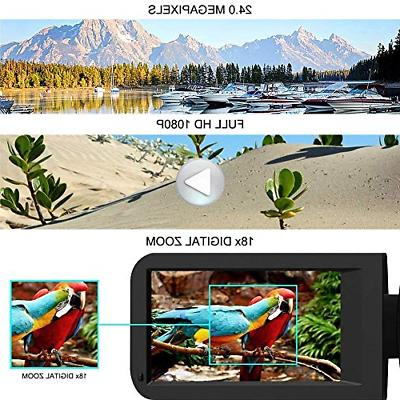 Camcorder Video Camera HD 1080p Vlogging 18X Digital with