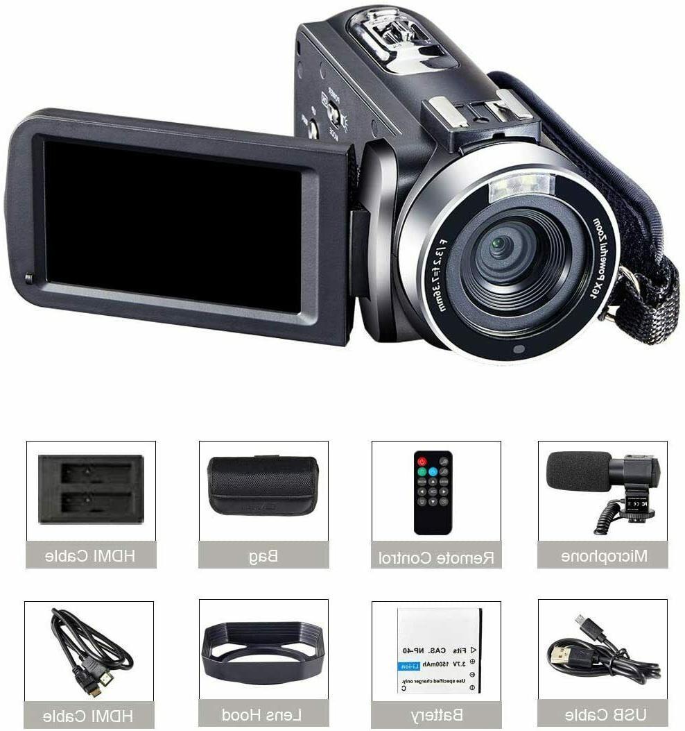 Camcorder Video HD 48MP Camera Remot