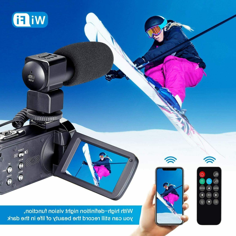 Camcorder Video HD 4K Camera & Remot