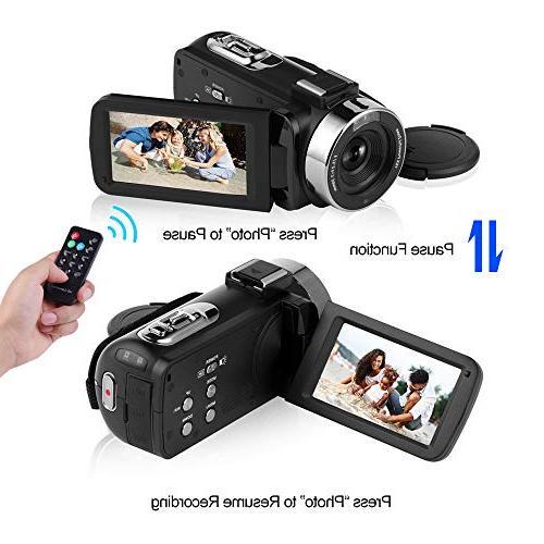 Full HD Vlog Camera Night Digital Camera with External Micphone Vlogging Video Camera