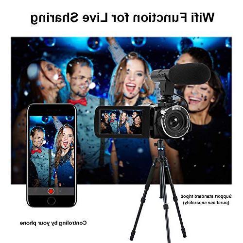 Seree Video Full 1080P WiFi Vlog Camera Digital Camera External Micphone Camera