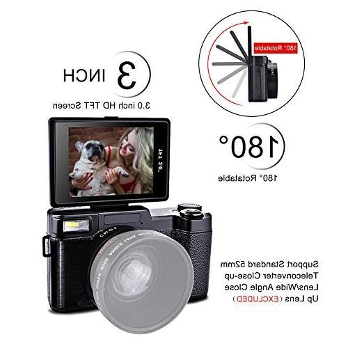 Seree Camera Camcorder WiFi Ultra Camcorders Camera Retractable Flash Light UV