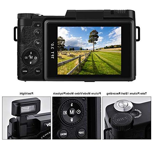 Seree Digital WiFi Vlogging Ultra Camcorders with Retractable Light UV