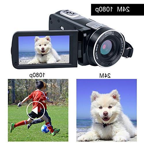 Full 1080p Camera Digital Zoom LCD Rotation Control