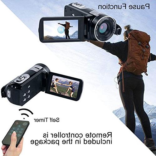 """Camcorder HD 24.0MP Camera 18x 2.7"""" with Angle Close-up"""