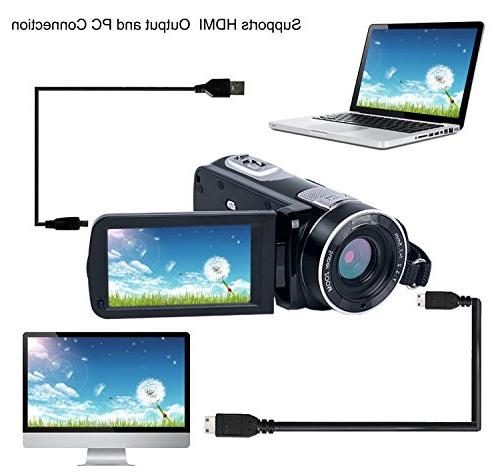 "Camcorder HD 24.0MP Digital Camera 18x 2.7"" LCD"