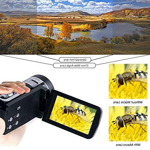 "Camcorder Video HD 1080P Camera 18x Digital 2.7"" LCD Angle"