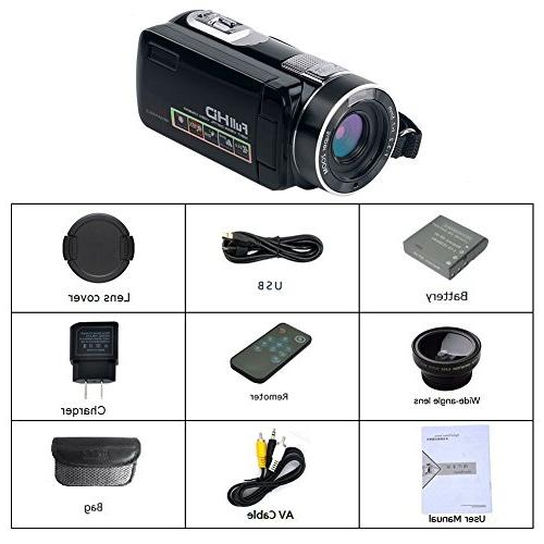 """Camcorder HD 24.0MP Camera 18x 2.7"""" LCD with Angle"""