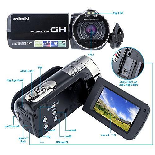 Digital Camera HD 1080P MP 16X Powerful Digital Zoom Video Inch LCD Stabilization 270 Rotation