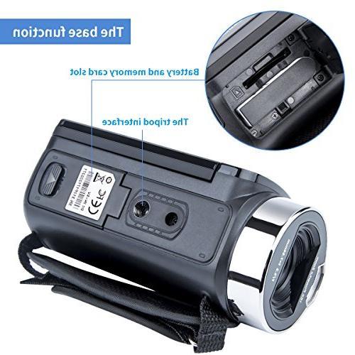 Digital Camera Camcorders Kimire HD 1080P MP 16X Powerful Digital Zoom Video 2.7 Inch 270 Camera Bag Lithium