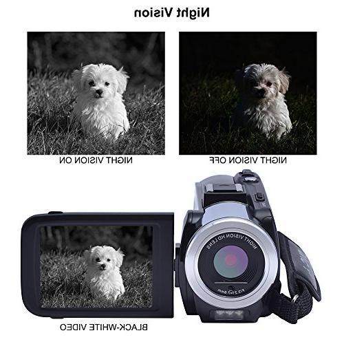 SEREE 24.0 Megapixels Portable Digital Video Camcorder Vision Camera DV Zoom