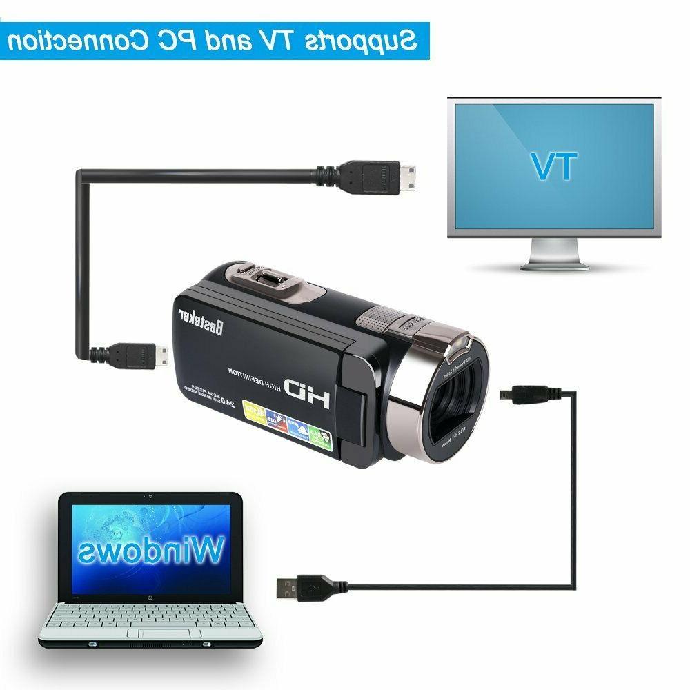 Camera Besteker HD 1080P 24 Digital Zoom Camcorder