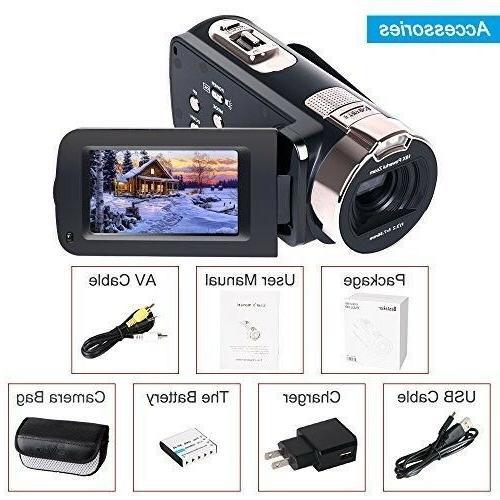 Camera Camcorders 1080P MP Digital Zoom Video Camcorder wi...