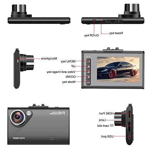 Car JVIN Camera 1080P Video Wide Angle LCD Screen G-sensor, Camcorder Z3