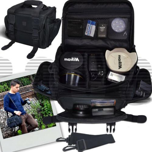Deluxe Large Camera Padded Carrying Bag for DSLR Cameras/Cam