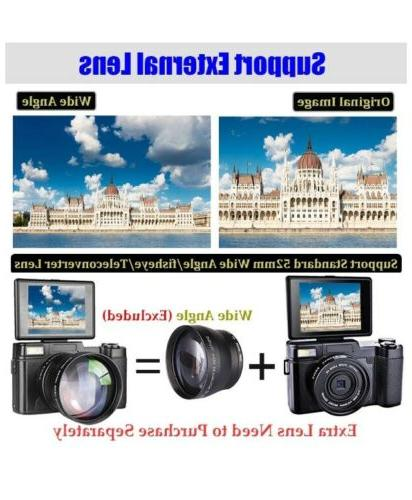 Digital Camera Vlogging 30MP 2.7K Vlog Camera With Screen 3""