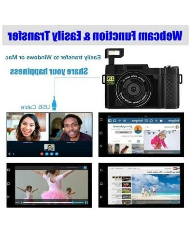 Digital Camera Vlogging Camera 30MP Full 2.7K Vlog Camera With Screen 3""