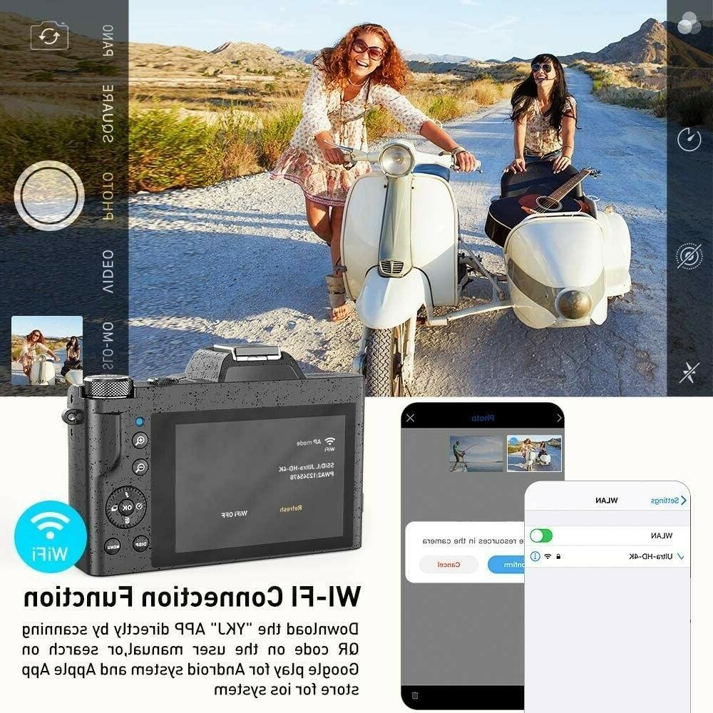 Digital Camcorder Ultra WiFi YouTube zoom