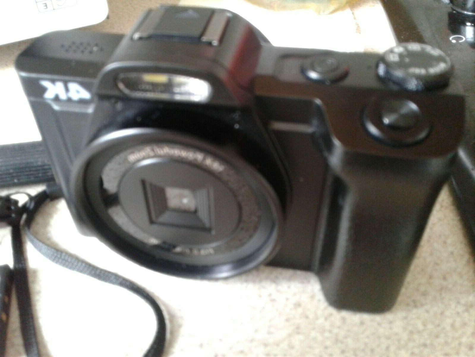Digital Camera 4K Camcorder Ultra WiFi YouTube 16x zoom