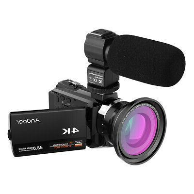 Digital Recorder Camcorder WiFi ULTRA HD Lens Mic