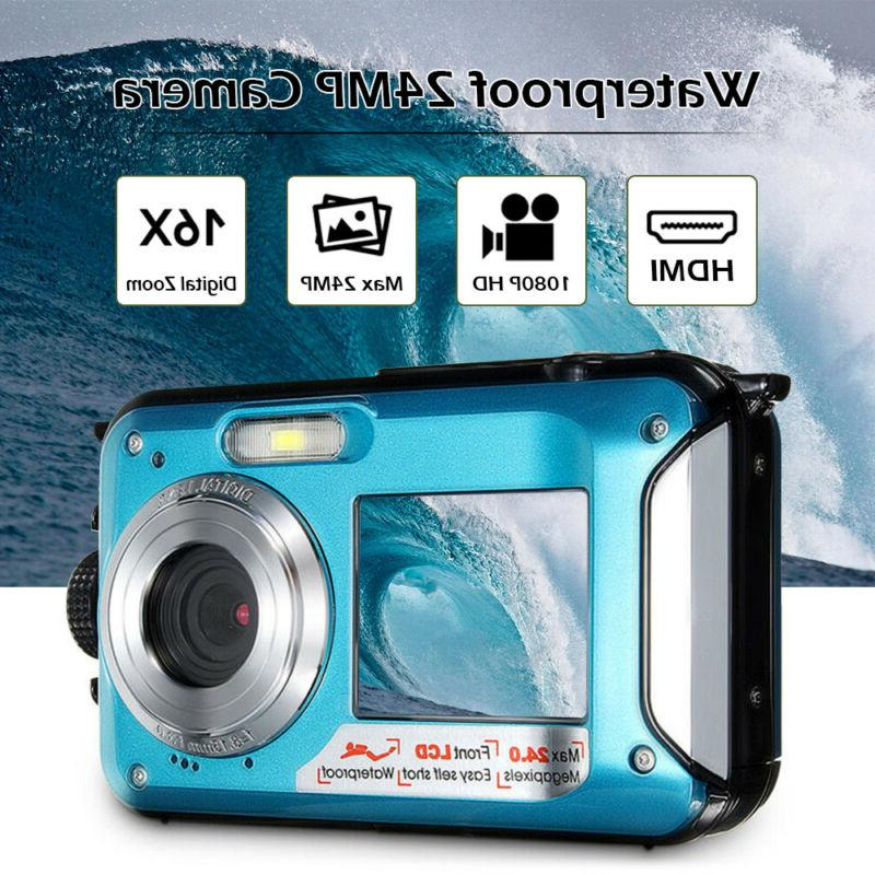 Double Sports Digital Video Waterproof Camcorder