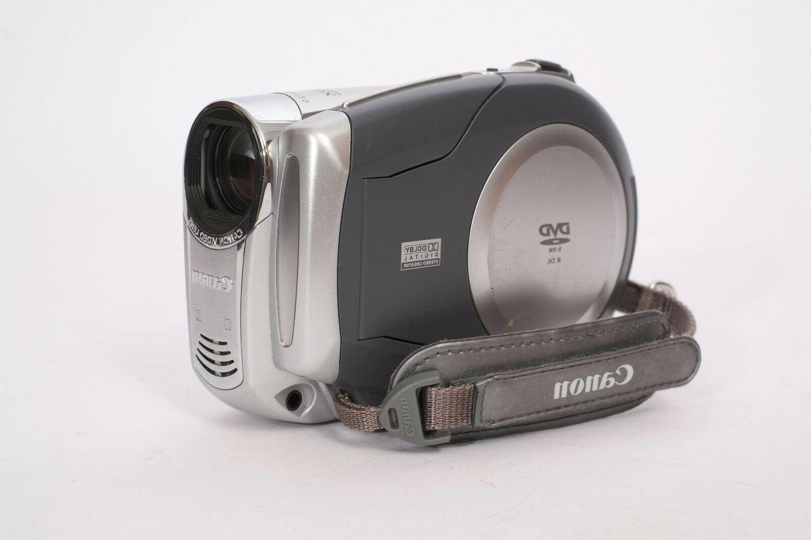 dvd camcorder dc210 with charger and battery
