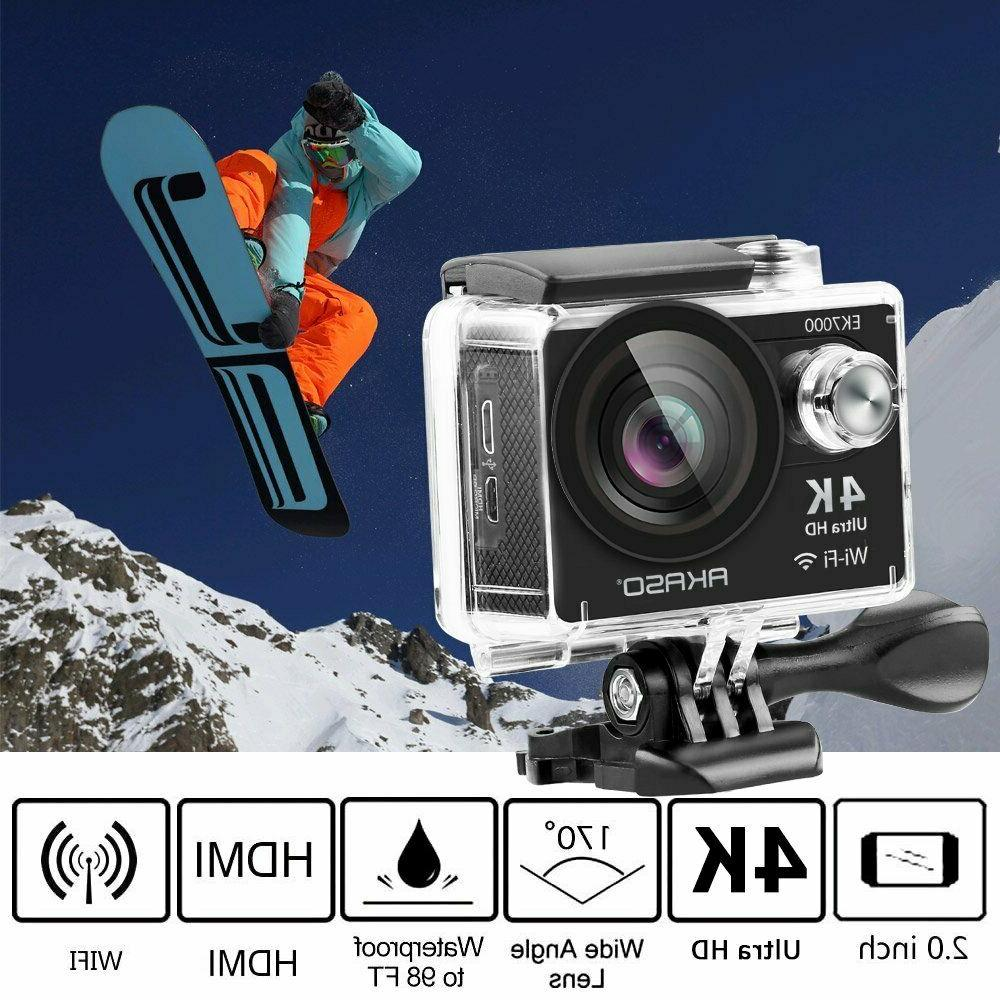 Akaso EK7000 12MP FHD 4K Waterproof Action Camera Camcorder
