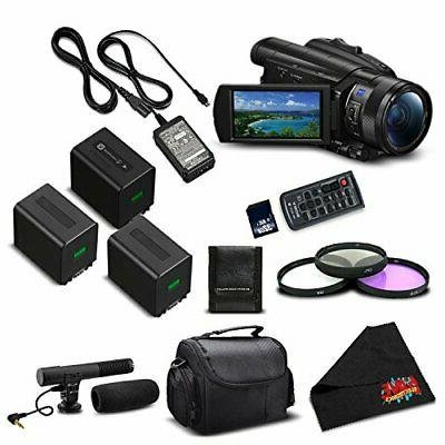 Sony FDR-AX700 4K HDR Camcorder Inch Advanced Bundle