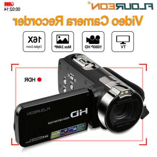 Video Camera Camcorder Vlogging Camera Full HD 1080P 24MP 16