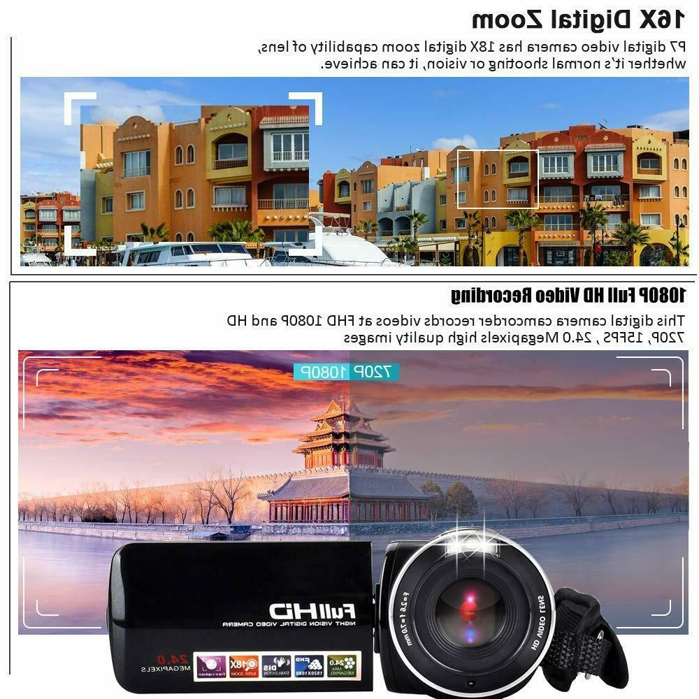 FHD Camcorder 1080p Camera Touch Screen