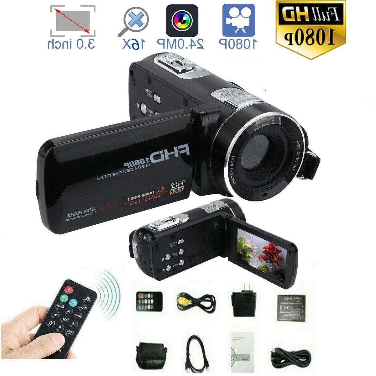 full hd 1080p 24mp 3 lcd 18x