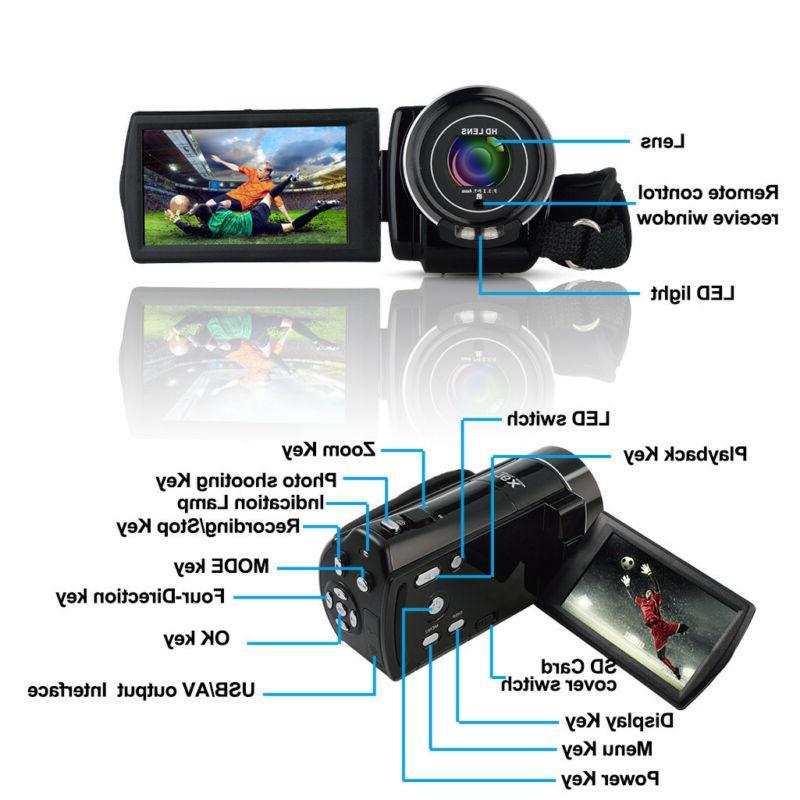 "FULL 3""LCD 18X ZOOM Vision Digital Camera Camcorder"