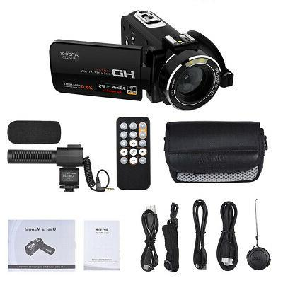 Digital Video Camera Camcorder FULL HD 24MP ZOOM Vision