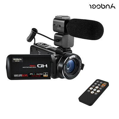 Andoer 1080P 16X 24MP WiFi Digital Video Camera Camcorder wi