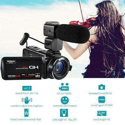 Digital Video DV Camera Camcorder FULL HD 1080P 24MP 16X ZOO