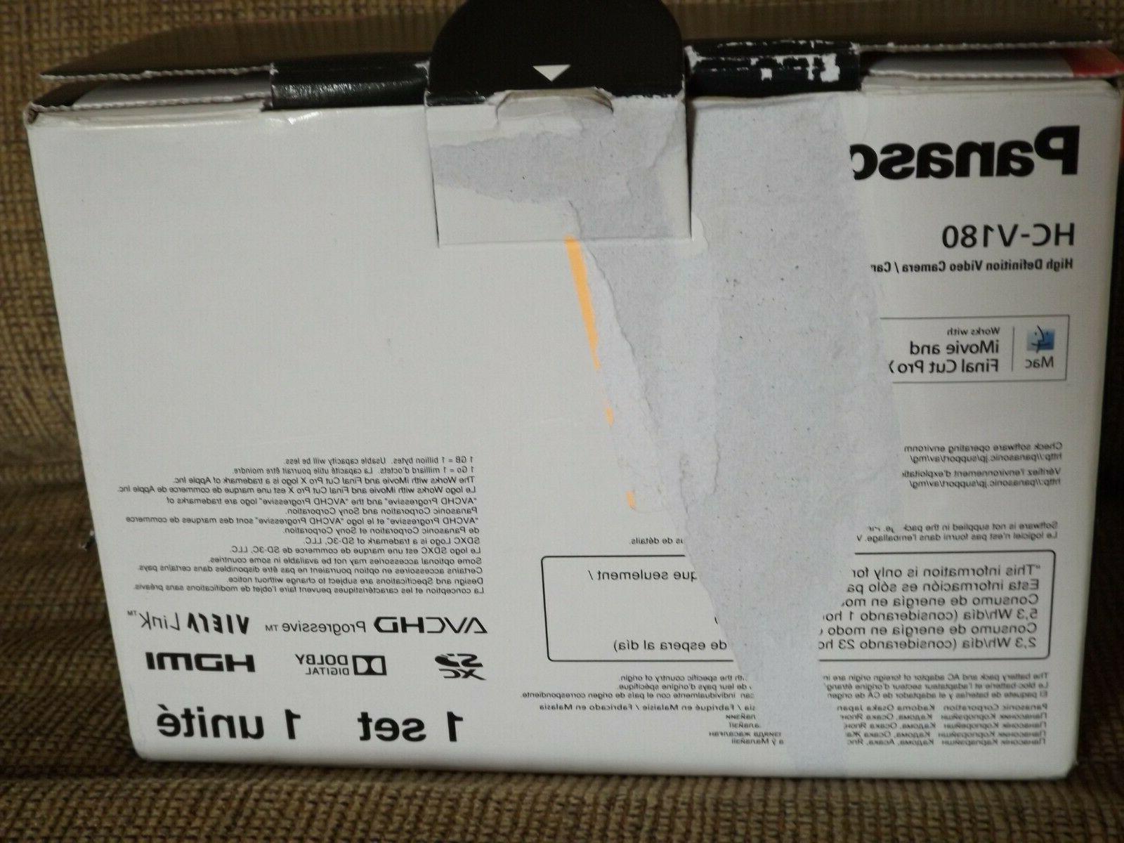 "HC-V180 Full HD 2.7"" Display Black"
