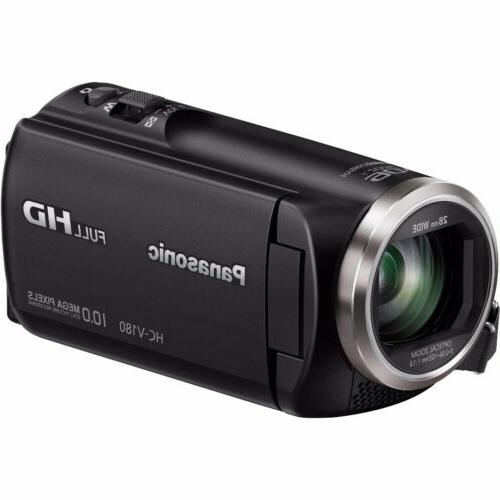 Panasonic HC-V180K Full 1080p Camcorder 64GB Accessory