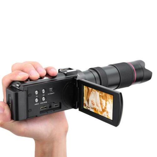 "HDR-AE8 4K HD WIFI 3.0"" Digital Video Camera Vision"