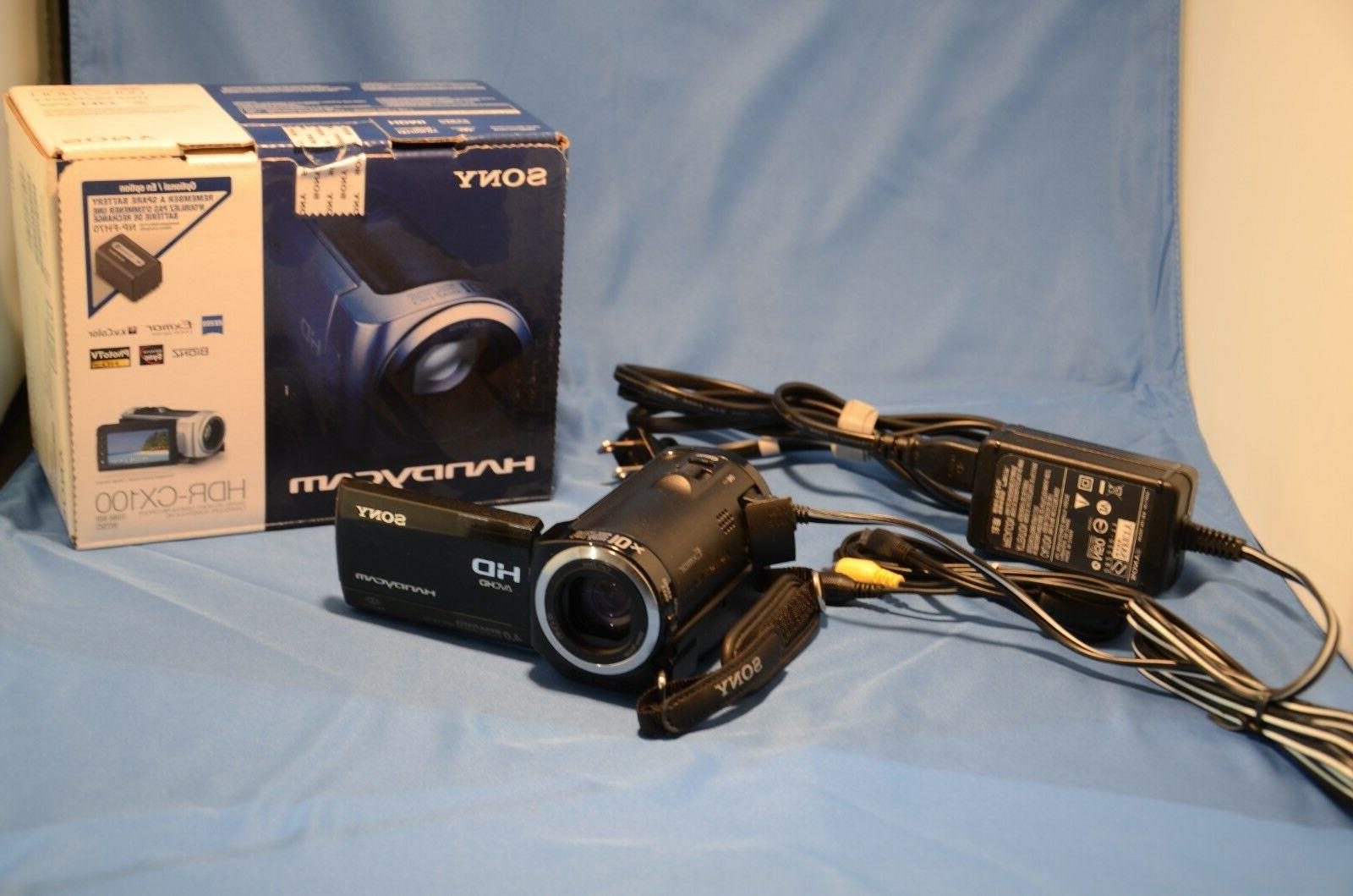 hdr cx100 high definition camcorder