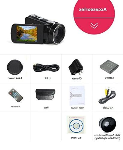 SEREE HDV-M06 FHD Video Camcorder Digital Beauty Output