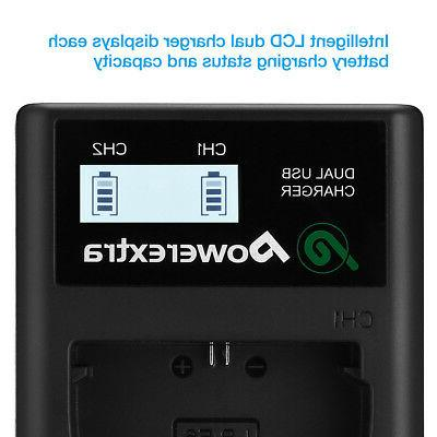 LP-E6 LCD Dual Battery Charger For EOS 60D 6D III