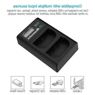 LP-E6 USB Dual Battery Charger EOS 6D 5D Mark II III