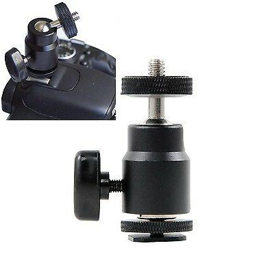 "FOTYRIG 1/4"" Hot Shoe Adapter Mini Ball Head Mount 360 Degre"