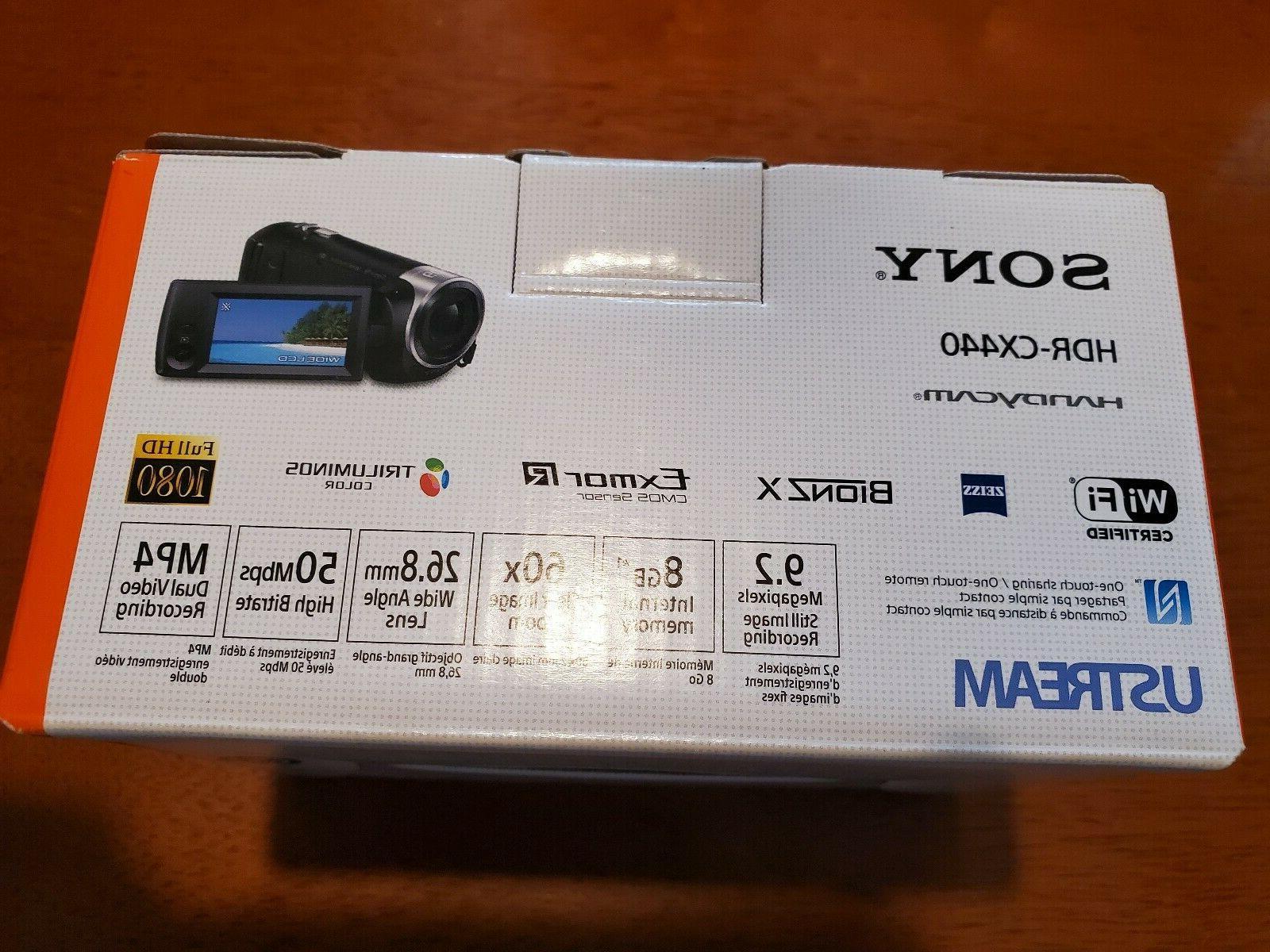 NEW! Handycam HDR-CX440 1080p Internal Memory