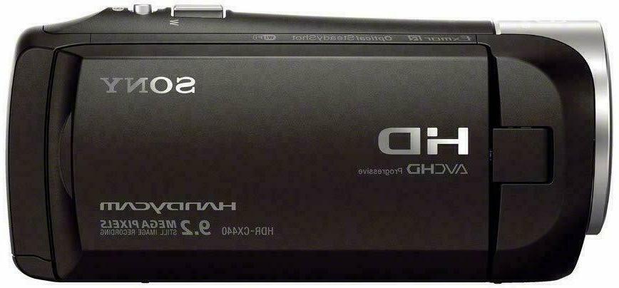 NEW! Handycam HDR-CX440 1080p 8GB Memory Black 30x
