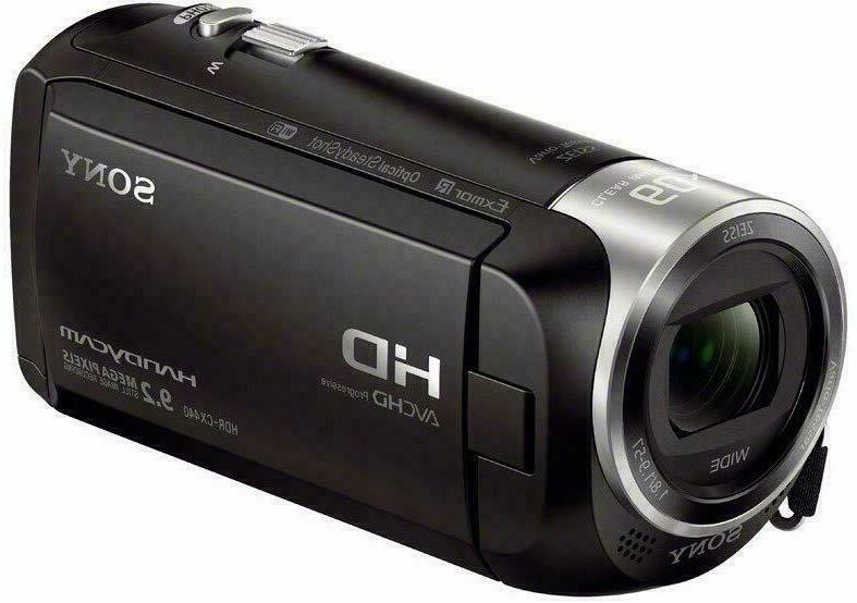 NEW! Sony Handycam HDR-CX440 1080p HD Memory Black